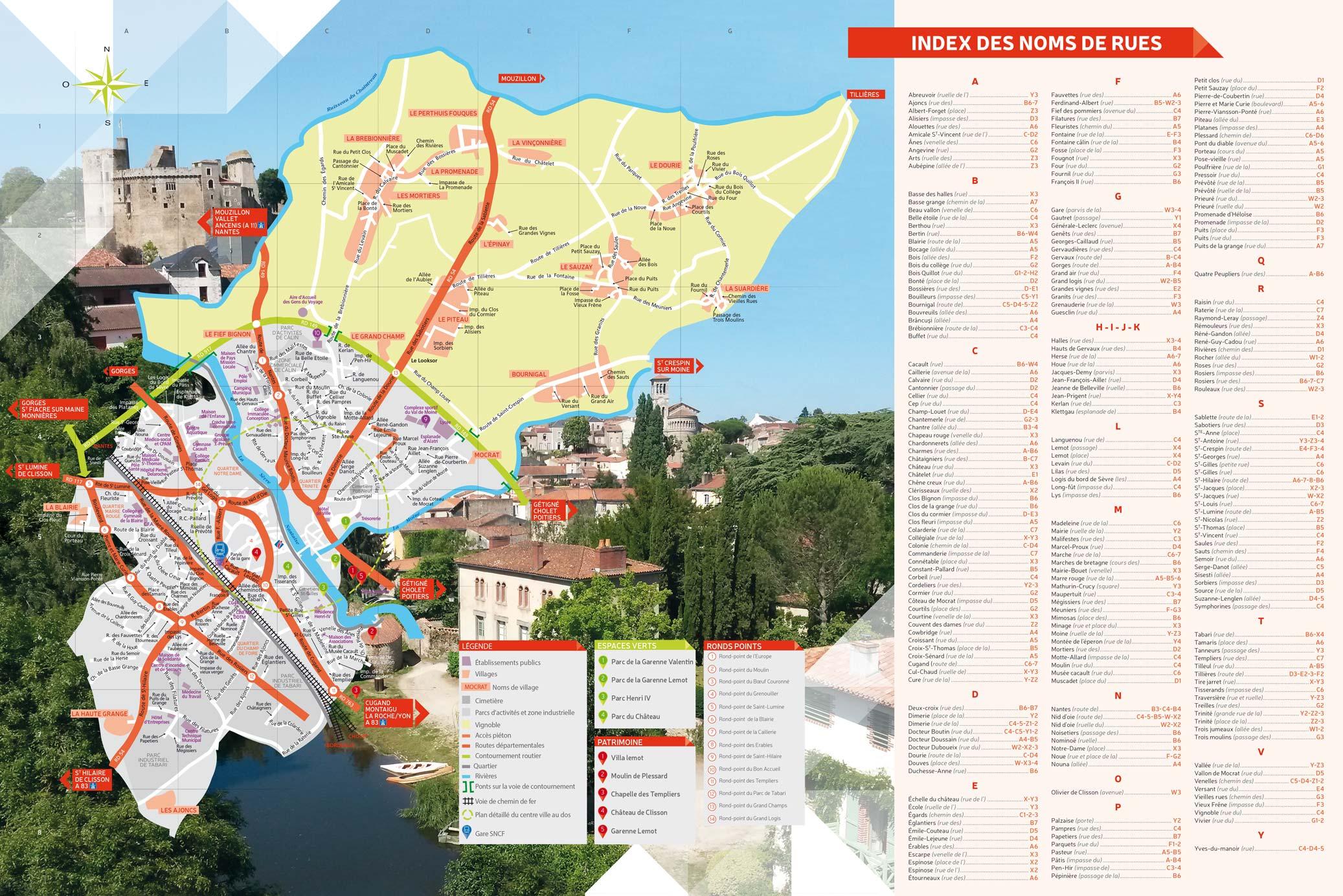 Plan de la Ville de Clisson
